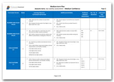 Year 2 Medium Term Planning for Autumn Term with Medium Confidence Assessment Schedule download