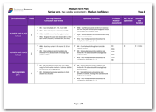 Year 4 Medium Term Planning for Spring Term with Medium Confidence Assessment Schedule download