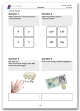 Key Stage 1, Year 2 Maths Money Worksheet Download