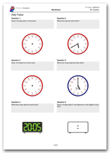 Key Stage 2, Year 3 Maths Time Worksheet Download