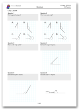 Key Stage 2, Year 5 Maths Angles Worksheet Download