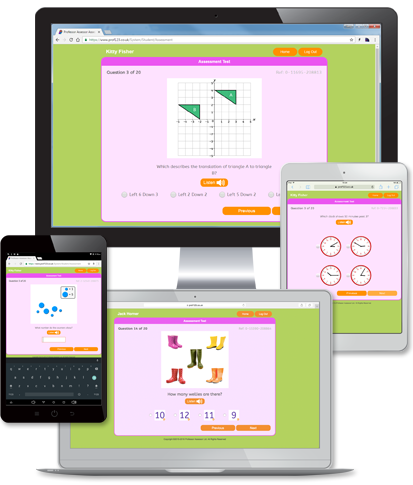 Maths e-assessment on PC, Mac, iPad and Android