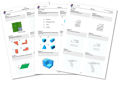 Maths mastery worksheet examples